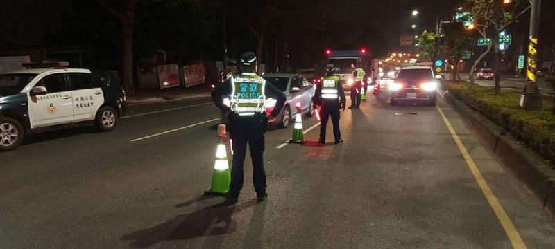 高市警局中秋連假7天取締酒駕232件,機車騎士違規酒駕最多達178人。(警方提供)