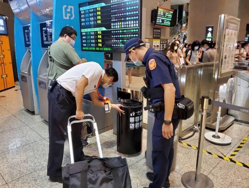 鐵路警察局已增派警力在高鐵全線加強戒備與巡邏。(記者劉慶侯翻攝)