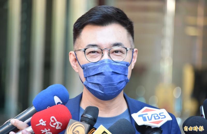 國民黨主席江啟臣表示,對於競爭對手操作棄保,他痛批這種手法,只會讓黨員看不起,因為棄保不講理念價值,只是一種選戰技術的操作。(資料照)