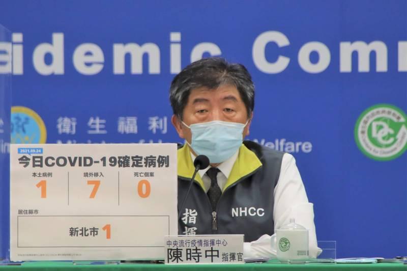 外界質疑「3+11」檢疫規定致800人染疫死亡,指揮官陳時中今重申兩者無直接證據,硬要連結要有證據。(指揮中心提供)