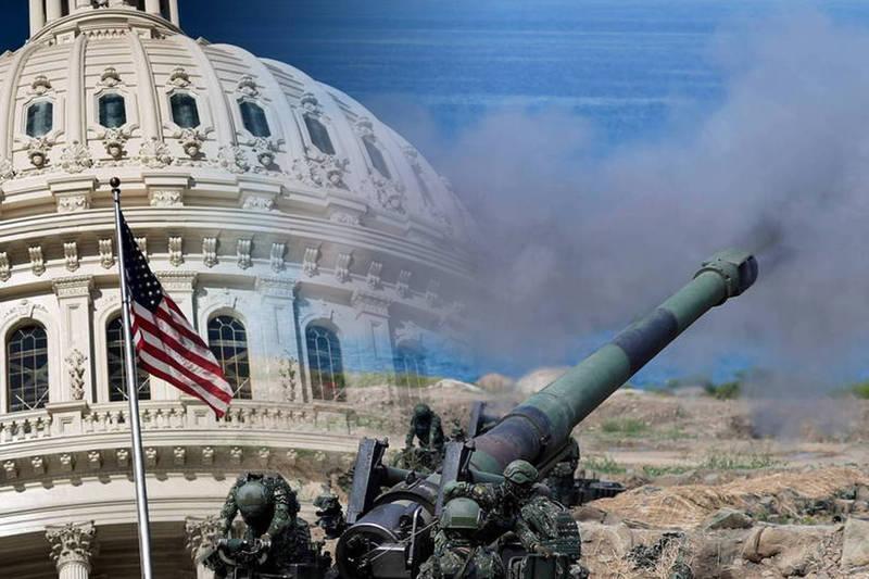 美國眾議院通過國防授權法案,建議美國國防部邀請台灣參加2022年環太平洋軍事演習。(法新社、路透,本報合成)