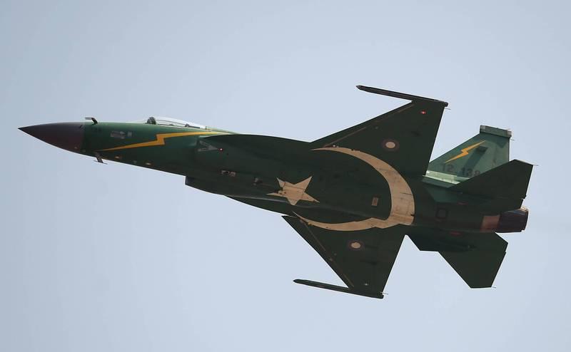 巴基斯坦JF-17戰機。(法新社)
