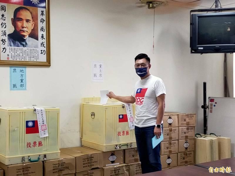 立委江啟臣連任國民黨主席失利。(記者張軒哲攝)
