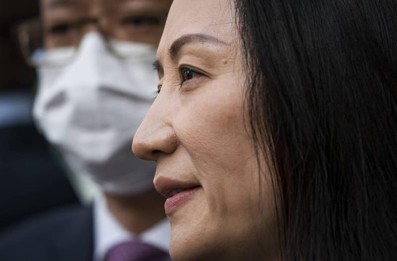 華為首席財務長孟晚舟獲釋返回中國。(歐新社)