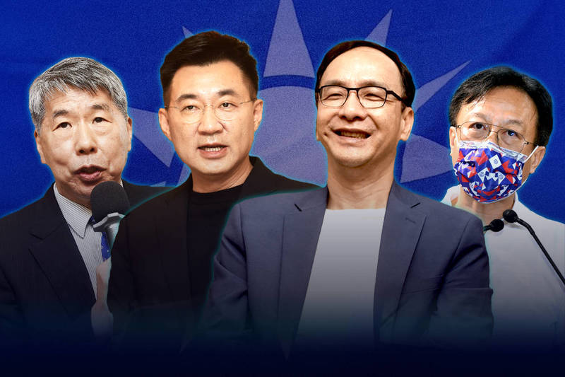 國民黨今天舉行黨主席選舉投票。(資料照,本報合成)