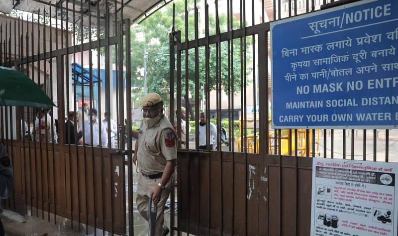 印度德里法院內發生槍擊案。(歐新社)