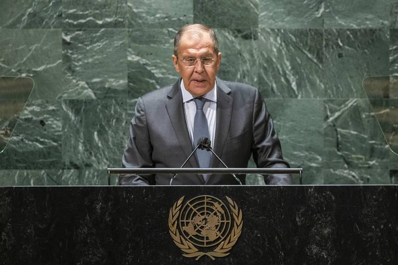 俄羅斯外交部長拉夫羅夫(Sergey Lavrov)。(美聯社)