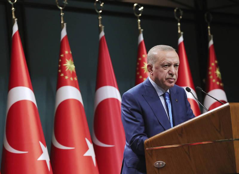 土耳其總統艾多根在接受美國媒體訪問時表示,土耳其會根據國防需求,考慮是否再購買俄國防空系統。(美聯社)