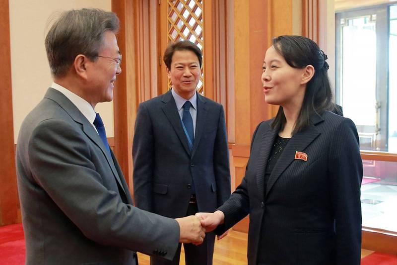金與正提出南北韓元首會面可能性,呼籲南韓言行一致,停止對北韓的敵視政策及言行。(法新社)