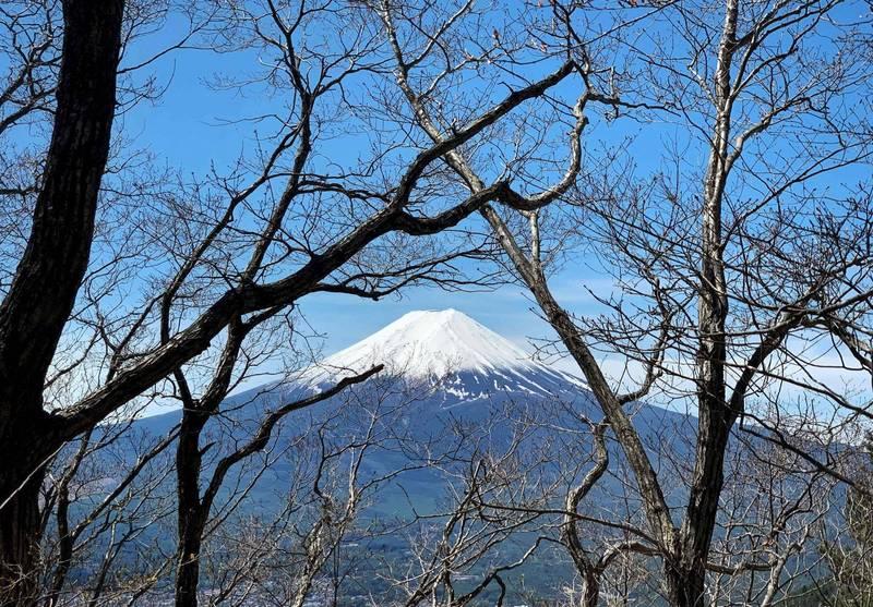 今年富士山夏季從山梨縣側登山的人數僅6萬5000多人,創1981年統計以來新低紀錄。(法新社)