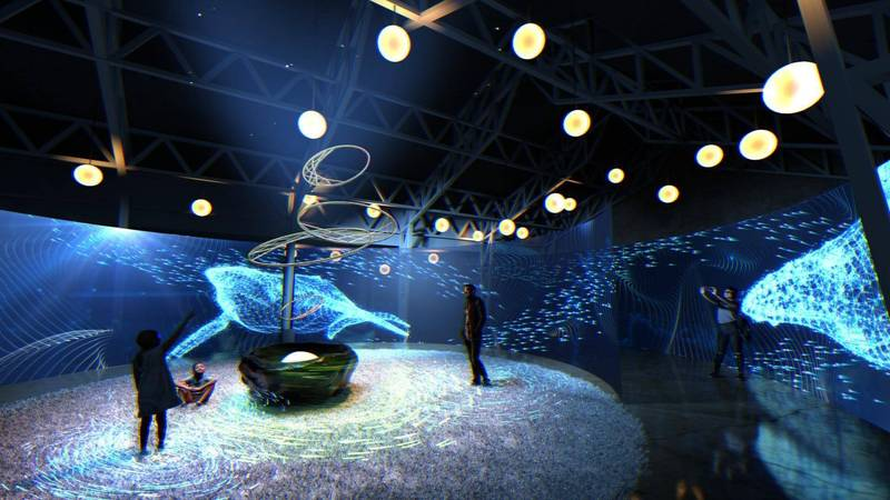「風起夢境」10月6日起新竹開展,圖為象徵財富的夢境 - 千川百魚。(觀光局提供)