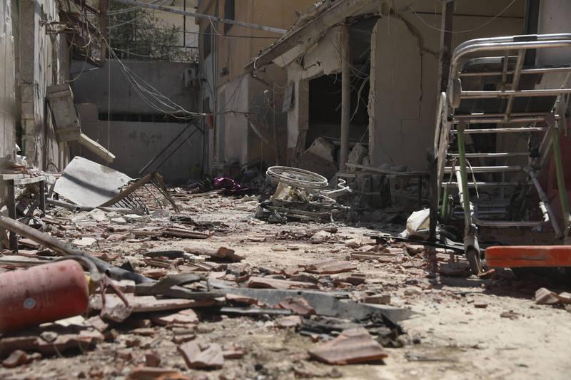 敘利亞東北部代爾祖爾省,一處由伊朗民兵組織支持的軍事基地,遭不明飛機空襲。(資料照,美聯社)