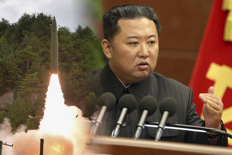 南韓聯合參謀本部今上午指出,北韓朝東部海域發射不明飛行物體。日媒則引述日本政府消息指出,北韓發射的可能是飛彈。(美聯社,本報合成)
