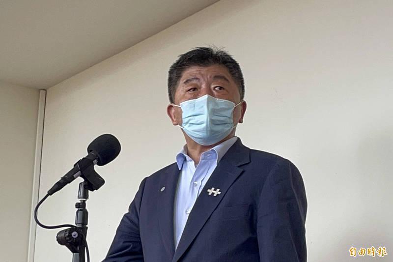 衛福部長陳時中今受訪時表示,與默沙東藥廠「快要簽約了!」 (記者邱芷柔攝)