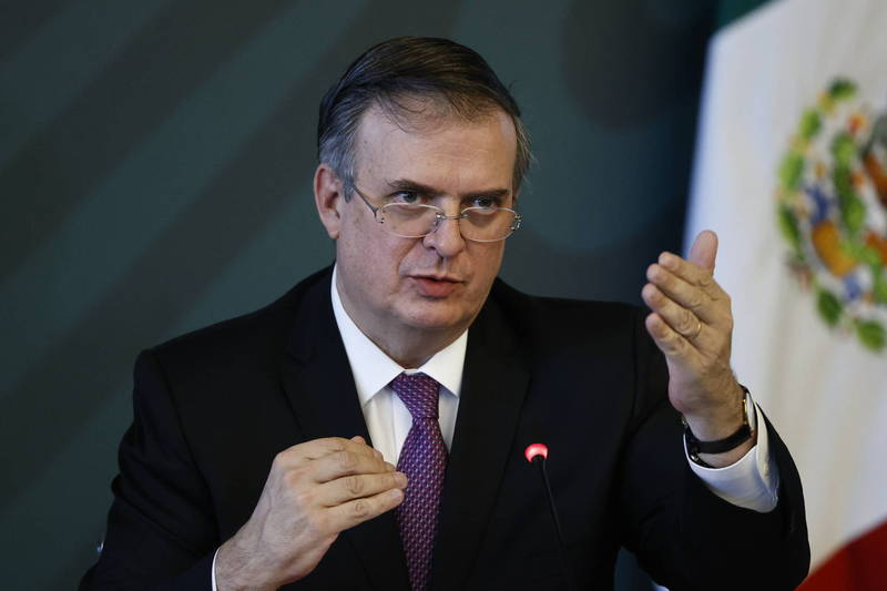 墨西哥外交部長埃布拉德(歐新社)