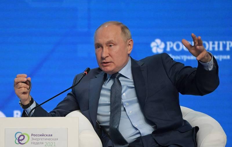 俄國總統普廷對台海情勢表達看法。(法新社)