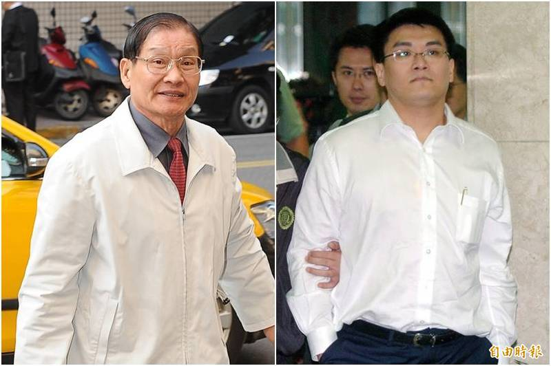 趙建銘(右)涉台開案判3年8月,趙父趙玉柱(左)4年,全案定讞。(資料照)