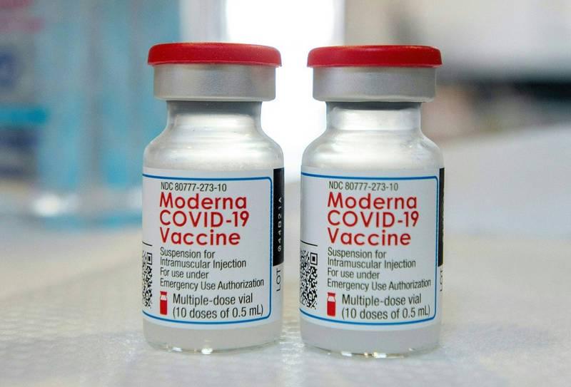 南韓三星生物製劑公司自今年第3季度正式開始代產莫德納疫苗。莫德納疫苗示意圖。(法新社資料照)