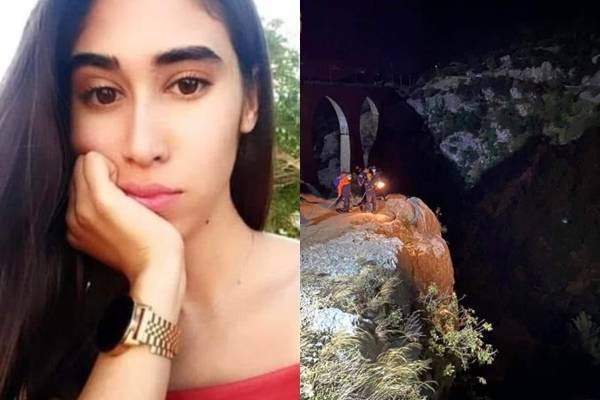 土耳其有名21歲女子卡拉布魯特,近日帶著26歲的表哥索哲里,前往電影《007:空降危機》拍攝景點遊玩,但她卻在自拍時,失足墜落50公尺深谷底,當場身亡。(圖擷取自推特)