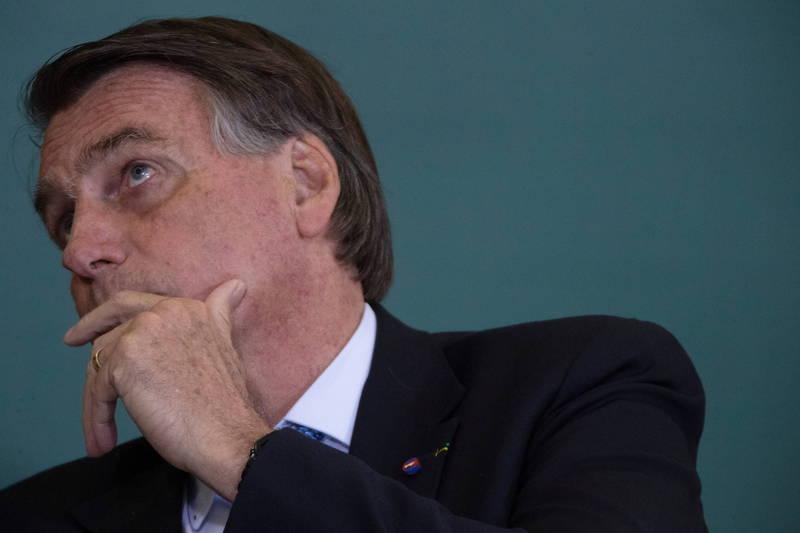 巴西總統波索納洛稱不會接種武漢肺炎疫苗。(歐新社)