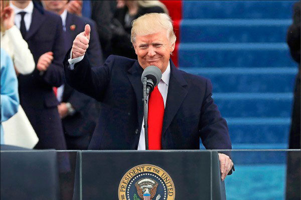 川普就職 美國展新局