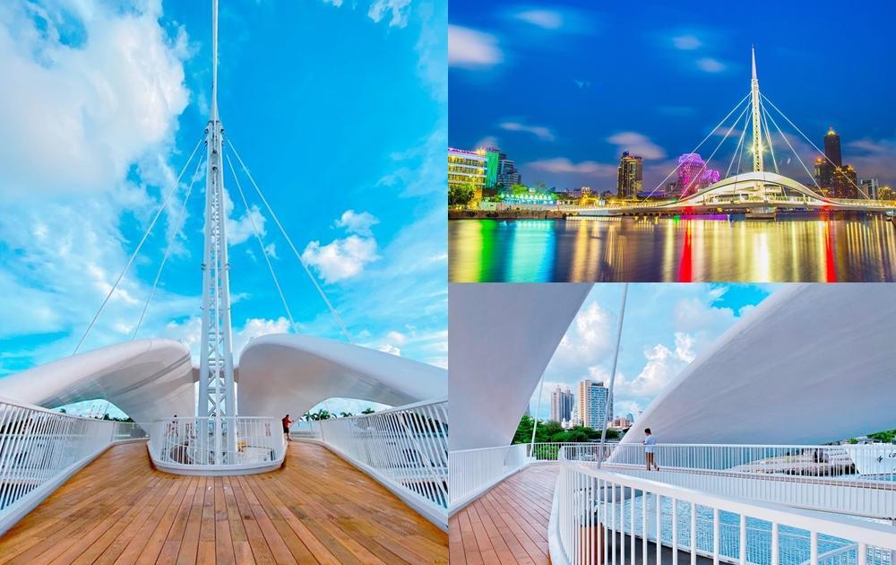 高雄新地標「大港橋」啟用!亞洲最長跨港旋轉橋、雪白色系點燈更夢幻