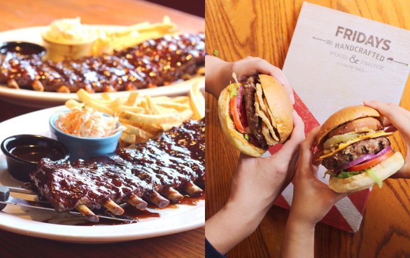 漢堡、豬肋排「買一送一」!FRIDAYS生日優惠連續三週吃不停