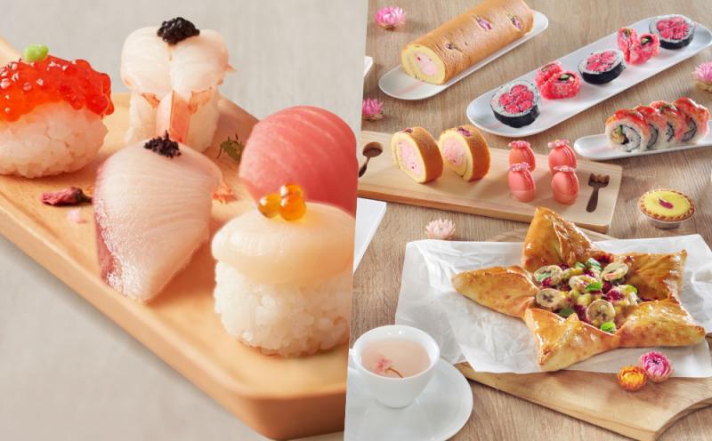 春限定「花見美食」吃得到真花瓣!甜點、握壽司竟然還有櫻花Buffet吃到飽