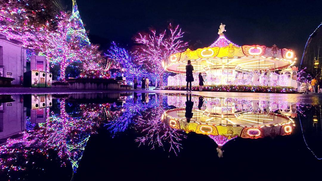 日本最美光雕秀「視玩」一下!東京寶石光樂園、金色耶誕城美翻了
