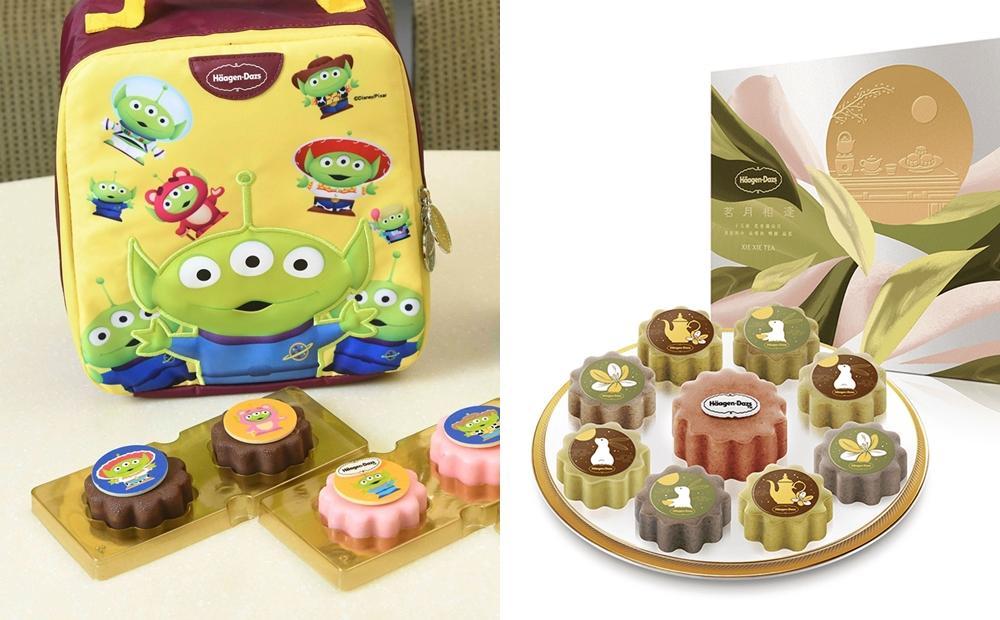 「玩具總動員三眼怪、台灣烏龍茶」變冰淇淋月餅!哈根達斯免費送保冷袋