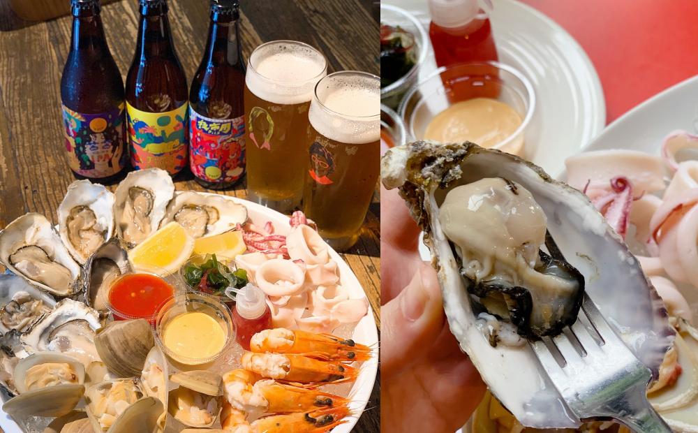 夏日啤酒節「不限杯買一送一」!五方食藏×酉鬼啤酒端出超澎湃生蠔海鮮盤