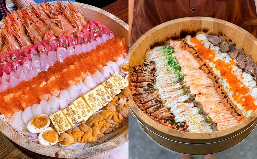 炙燒鮭魚、牡丹蝦滿到爆!巨無霸「木桶海鮮丼飯」南北名店拚澎湃