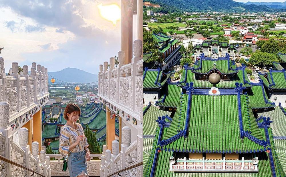 南投絕美廟宇被讚「台版青瓦臺」!漸層式綠瓦宮殿+遼闊山景再度爆紅