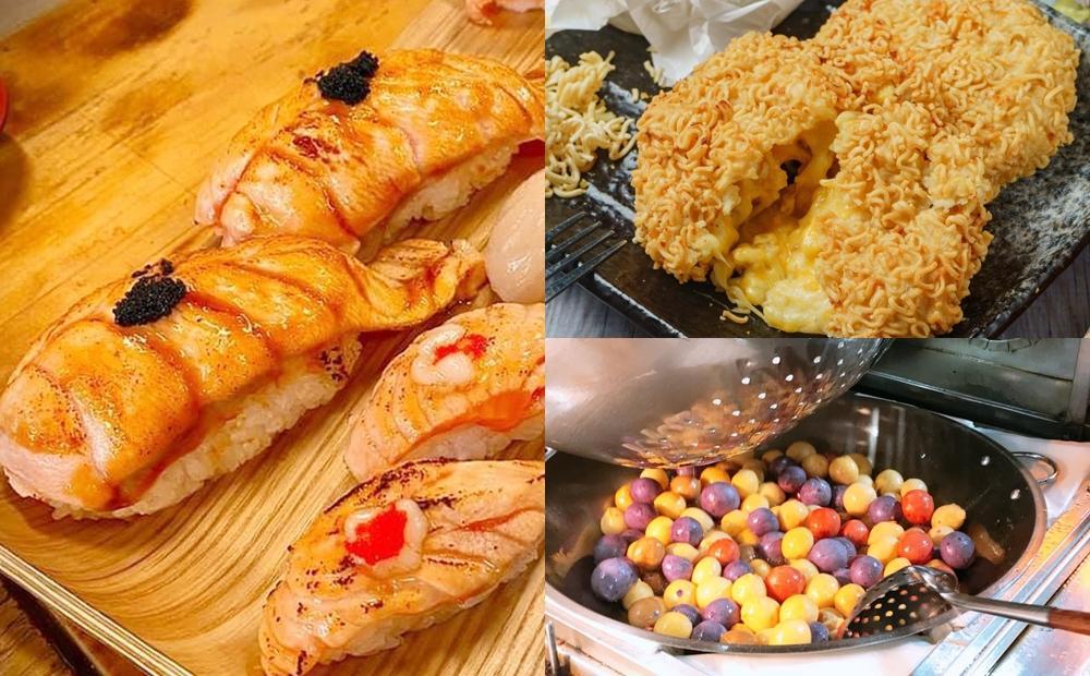 用「桃園夜市券」吃3間浮誇美食!巨無霸鮭魚壽司、牽絲起司餅現在正夯