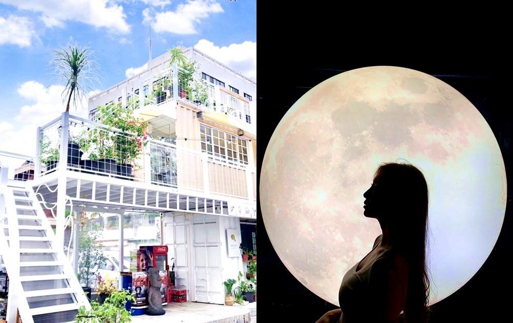 嘉義「純白建築 + 巨型月亮」IG必拍!全新文青美食聚落彷彿置身韓國咖啡廳