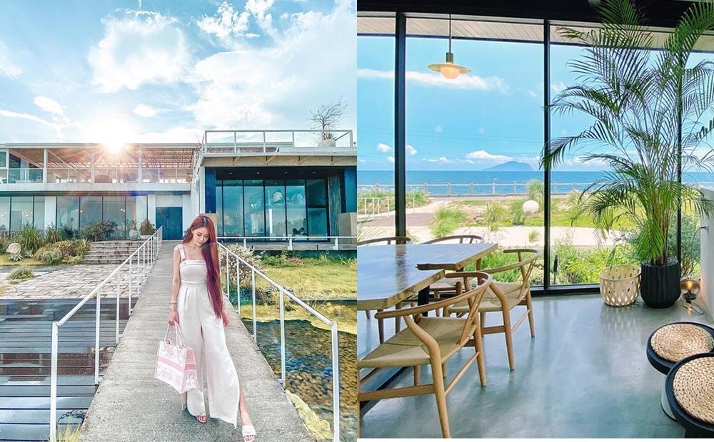 宜蘭「純白玻璃屋咖啡廳」打卡正夯!看海新秘境超廣角眺望龜山島