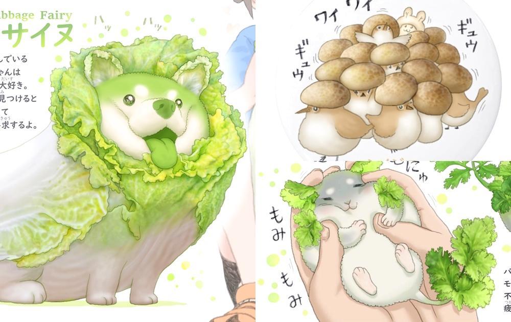 白菜柴柴、甜椒貓...超萌「野菜動物」爆紅出書!網:香菜再可愛都無法接受