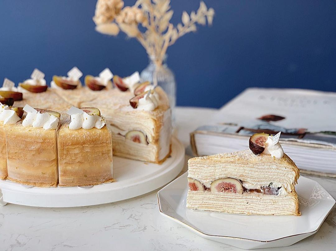 秋季最夢幻「無花果千層蛋糕」吃得到果肉!時飴甜點調酒組合同步開賣