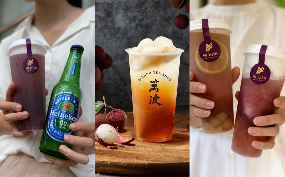 整顆荔枝、巨峰葡萄加進手搖飲!「0酒精冰沙+荔枝綠」咀嚼控一杯就喝飽