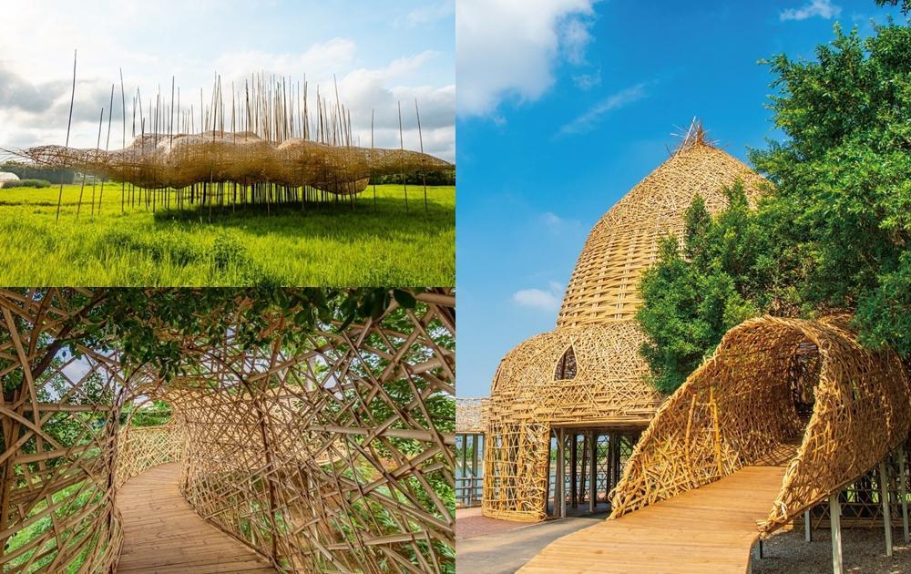 桃園地景藝術節週五登場!「竹編迷宮、漂浮竹林」28個大型裝置作品太好拍