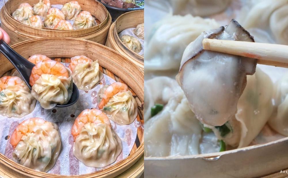 「整隻鮮蝦、蚵仔小籠包」大到包不住!台中海鮮湯包一口咬下狂噴汁