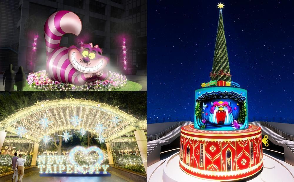 史上最大「新北耶誕城」上演迪士尼光雕秀!巨型妙妙貓、白雪公主陪你過節