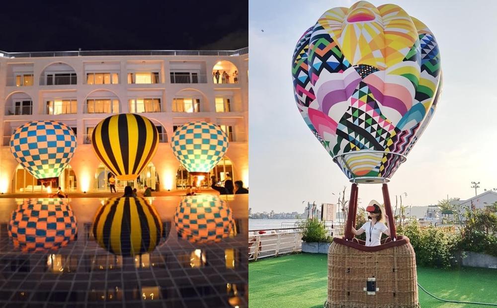 淡水「熱氣球嘉年華」走進10米球體打卡!光雕秀音樂會+山河美景加倍浪漫
