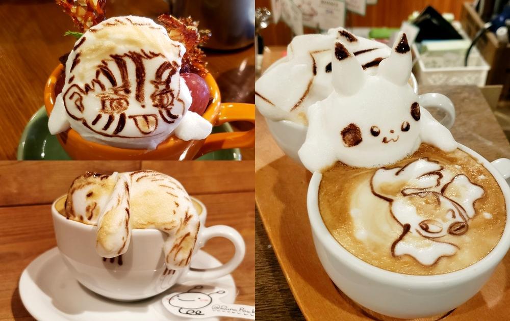 超炫技「3D咖啡拉花」推特爆紅!鬼滅、皮卡丘、天竺鼠車車變最萌杯緣子