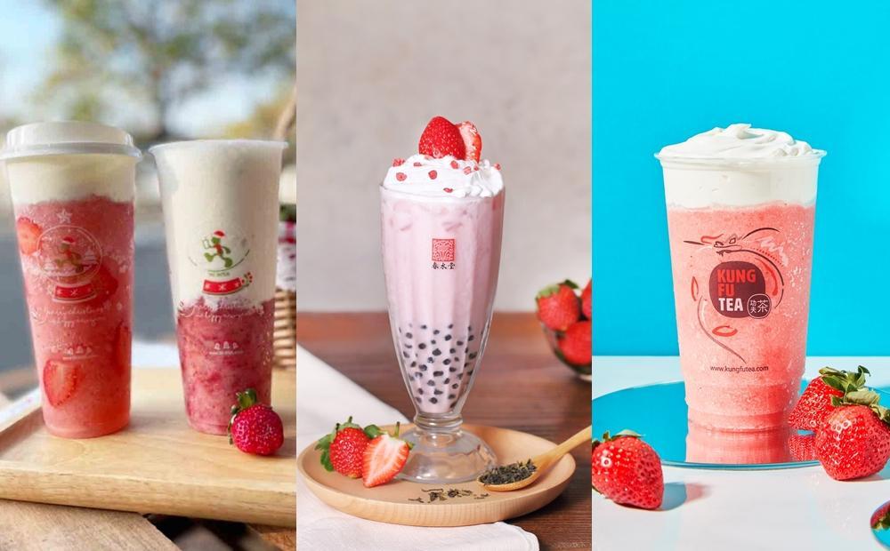 豪放半杯草莓!「草莓芝芝、草莓珍奶」5間超有料手搖飲冬季必喝