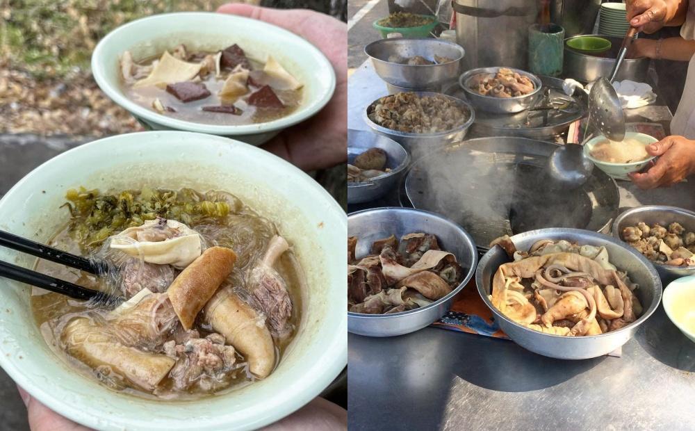 台中60年豬雜湯蹲路邊吃照樣排隊!一碗50元免費加湯還能指定「神秘內臟」