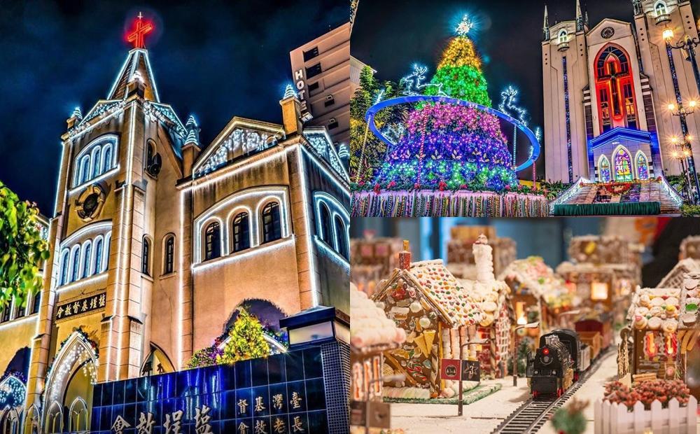 南台灣3大教堂耶誕點燈!「最大薑餅屋城市、百年歐風城堡」秒飛出國打卡