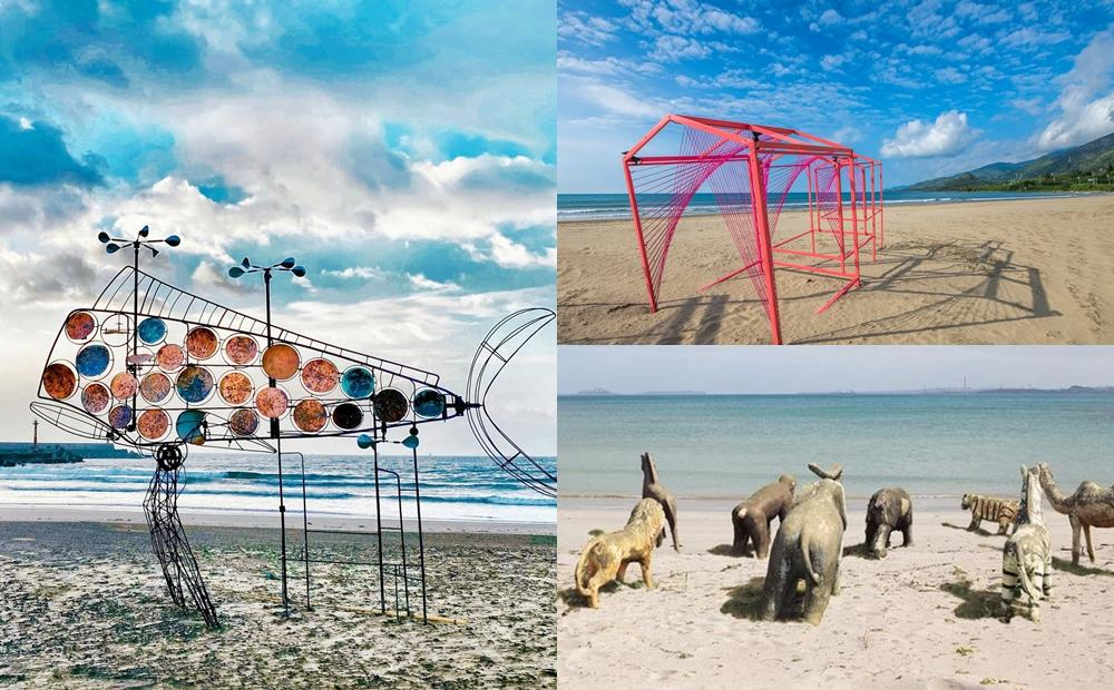 屏東落山風藝術季搶先拍!「迷你版動物園、隨風轉動的飛魚」現身無人沙灘