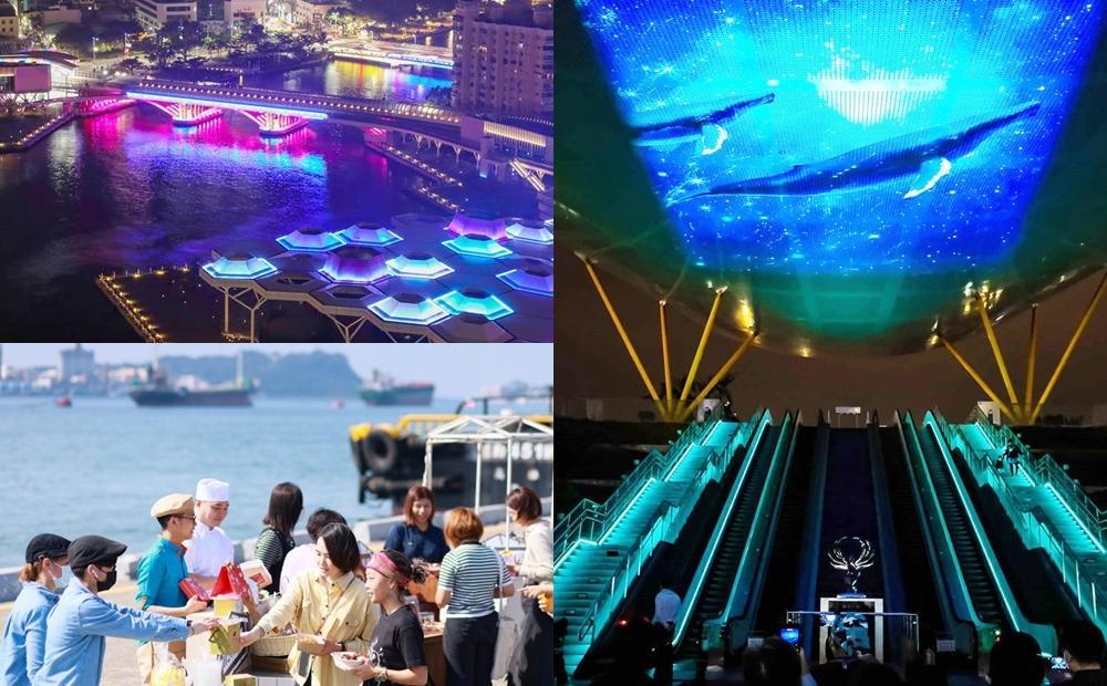 高雄耶誕跨年必玩新景點!最美捷運站看3D光雕秀、海景第一排逛碼頭市集