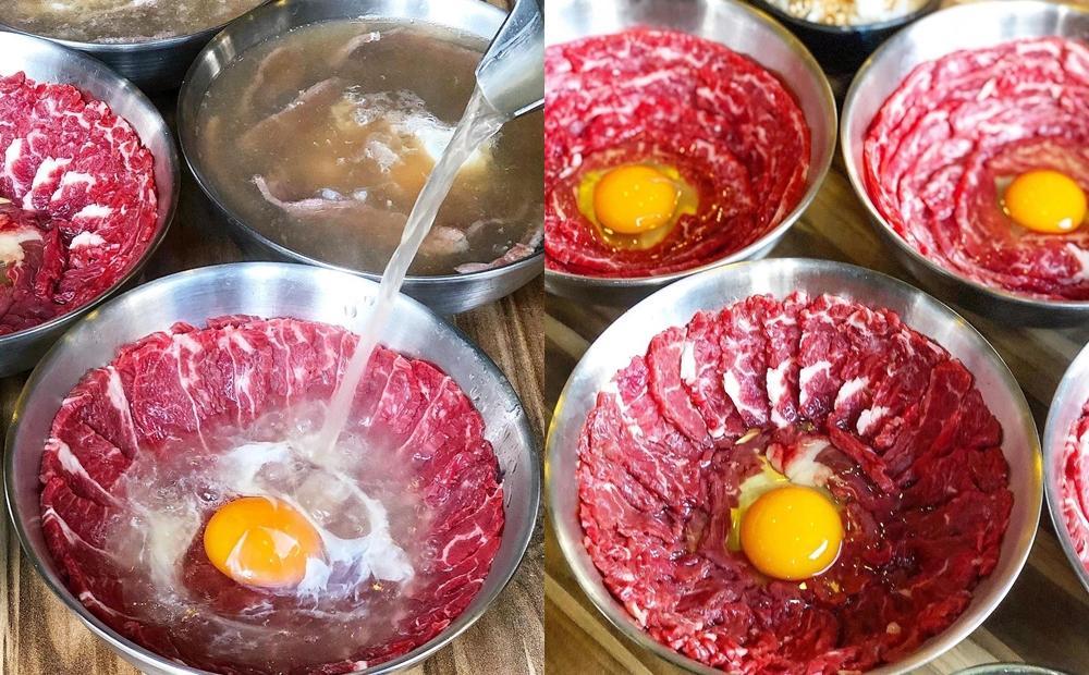 台南隱藏版「現沖月見牛肉湯」一天只賣4小時!配生魚片的新吃法更飽足